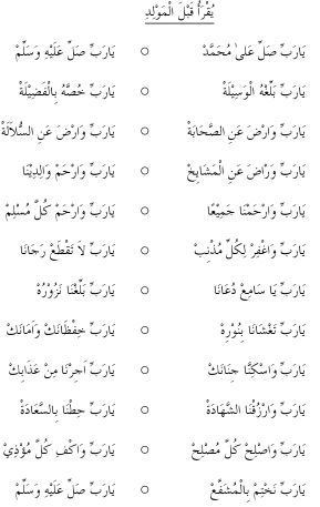 Maulid Ad-Dibai dan Terjemahan