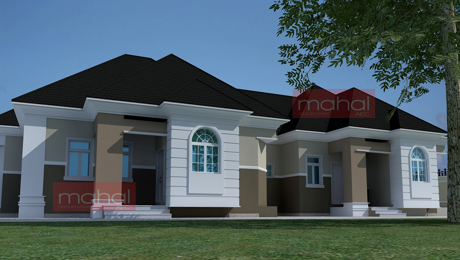 Modern nigerian bungalows joy studio design gallery for Nigerian architectural designs