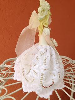 Bambola in pasta di mais sposa principessa