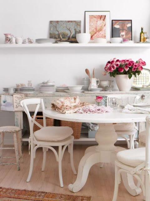 decoracao tudo branco:Shabby Chic Dining Table