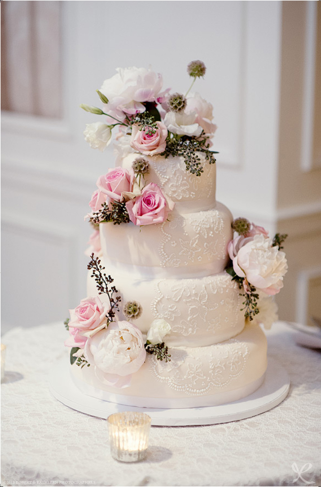 Wedding Cake Design Tips : Lace Wedding Cakes - Part 5 - Belle The Magazine