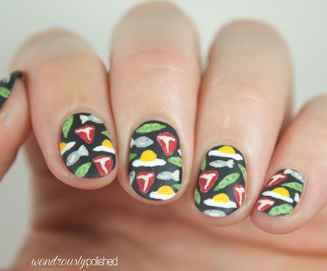 meat nail art