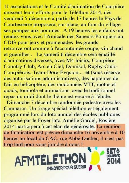 Téléthon 2014: Courpière, 63