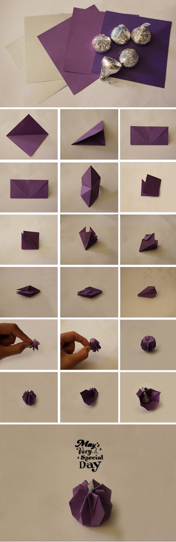 diy origami kisses chocolate for dessert bar or valentine