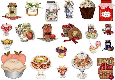 Pegatinas de dulces para imprimir - Pegatinas para cocinas ...