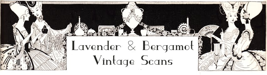 lavender and bergamot, vintage scans