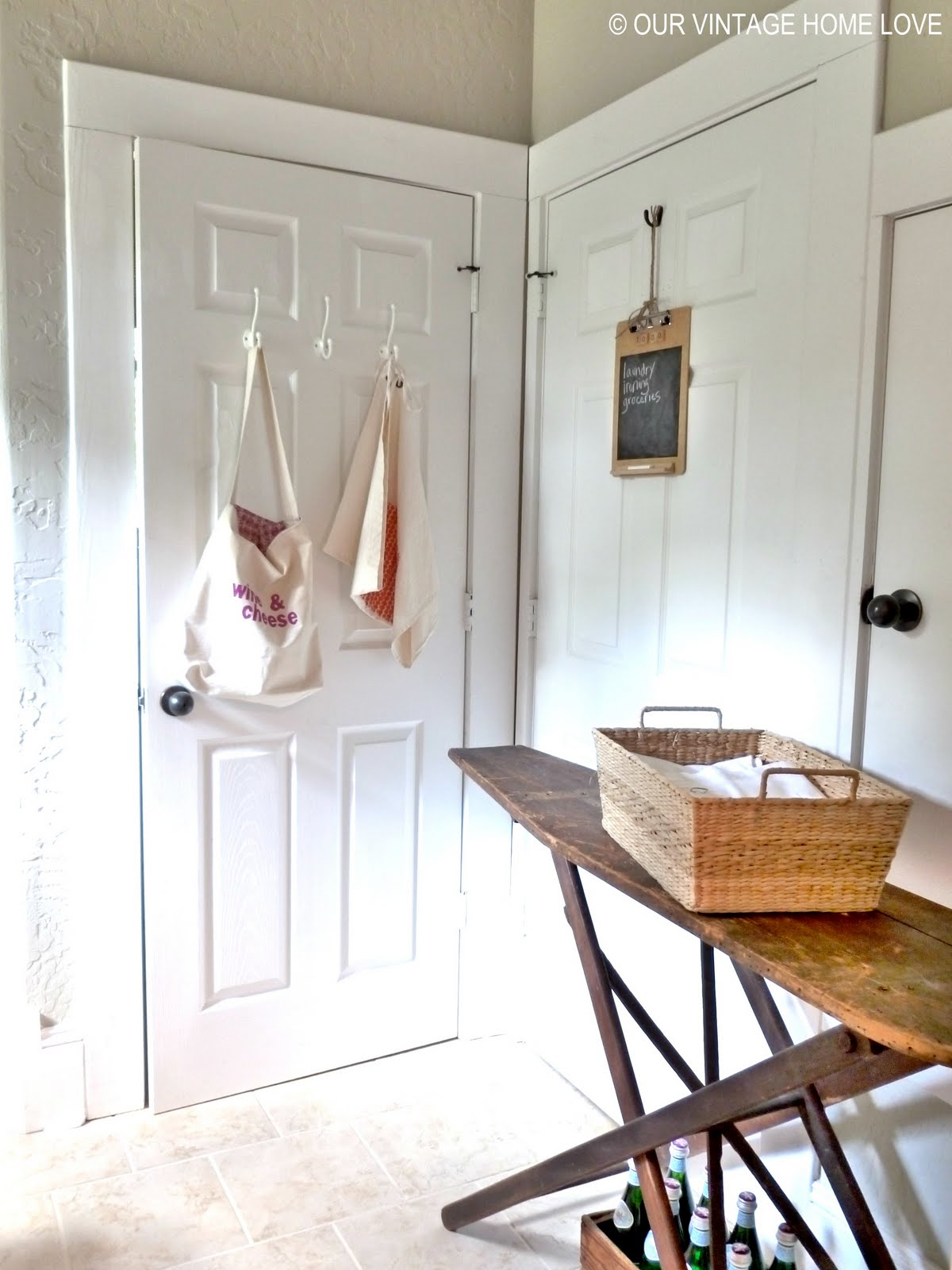 vintage home love: Laundry Room Ideas and a Vintage Ironing Board