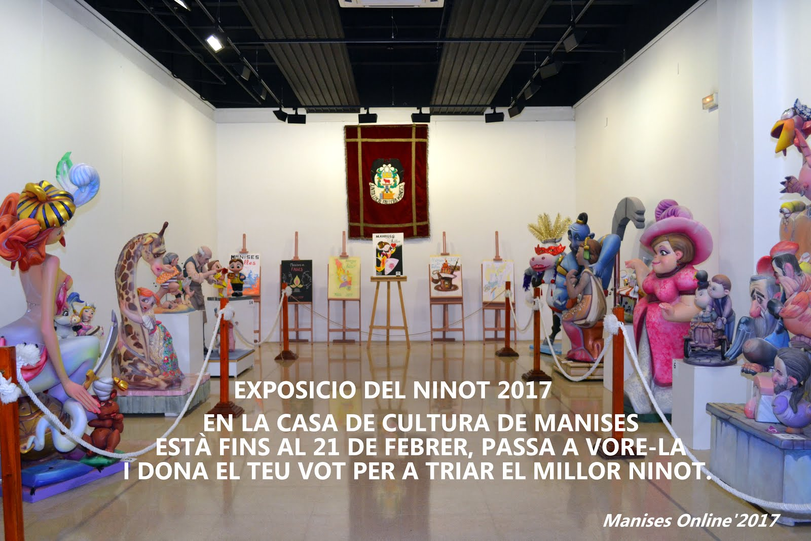 14.02.17 FALLES DE 2017, EXPOSICIO DEL NINOT EN LA CASA DE CULTURA