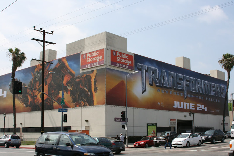 Transformers 2 movie billboards