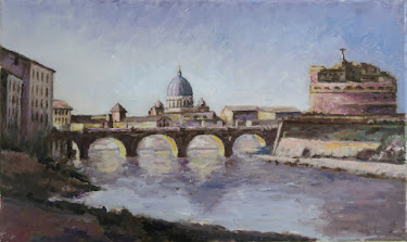 Puente y Castillo de Sant'Angelo; after Corot (10M)