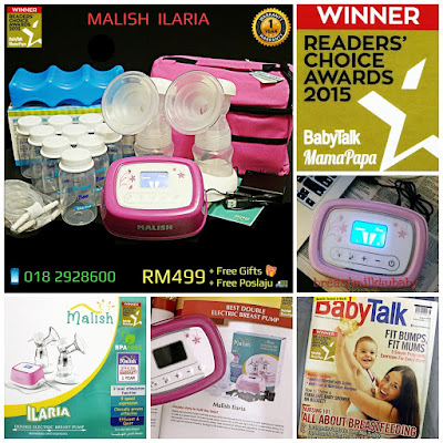 Malish Ilaria Heavy Duty Double Electric/Battery/Powerbank/Usb Breast Pump Lacte duet