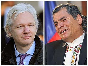 """PR do Equador qualifica como """"ameaças vulgares"""" posições de Londres sobre Assange"""