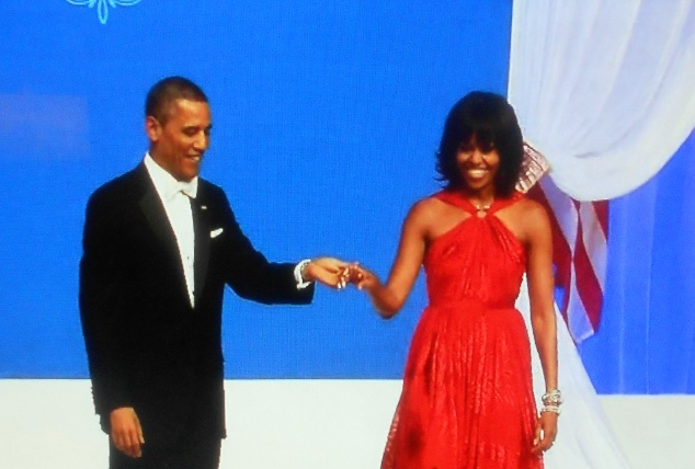 Obama's Dance at 2013 Commander in Chief Ball Presidential Inauguration Jennifer Hudson Singing HD