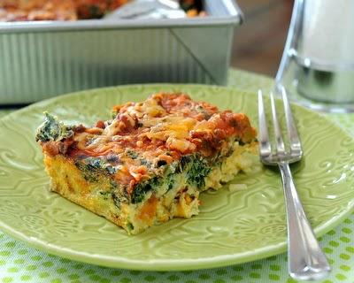 New master recipe for Easy Make-Ahead Breakfast Casserole. Start with eggs, frozen hash browns, salsa and cheese, then adapt as you like, incl on-the-go muffins and individual ramekins.