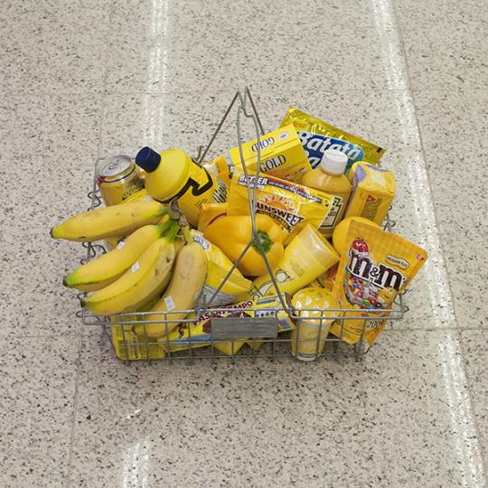 arte fotografia produtos por cores supermercado