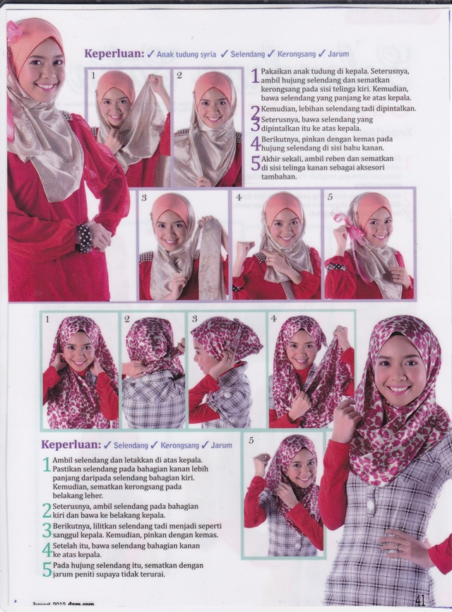Cara Pakai Tudung Bawal Simple Jpg | newhairstylesformen2014.com