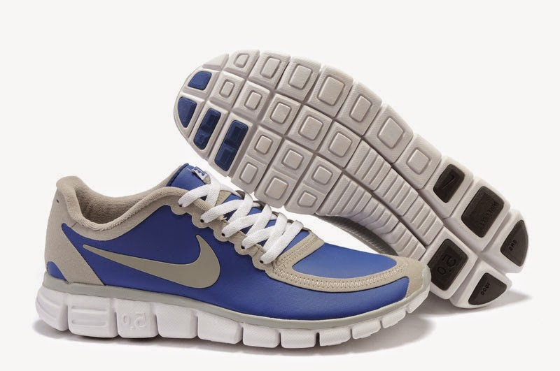 Nike Free 50 V4 Mens Running Shoes Blue Grey White