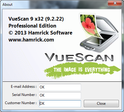 serial number vuescan 9 x32