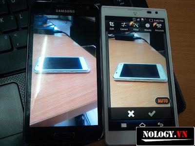 Camera của samsung Galaxy S2 HD và Sky A840