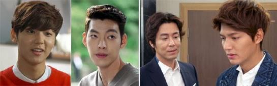 Kang Min Hyuk, Kim Woo Bin, Choi Won Young and Lee Min Ho with bad hair.