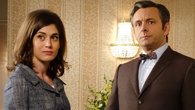 "Lizzy Caplan and Michael Sheen in ""Masters of Sex"""