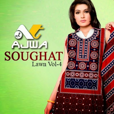 Ajwa Soughat Summer Dress Designs 2014