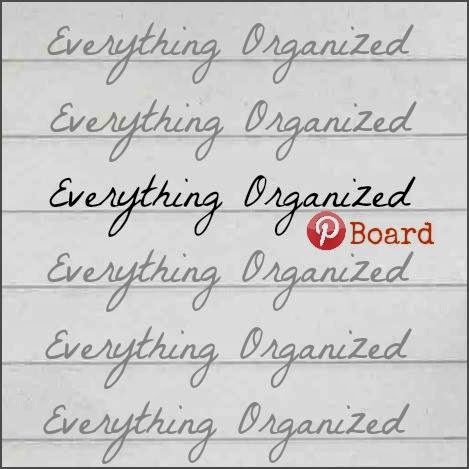 Everything Organized Pinterest Board