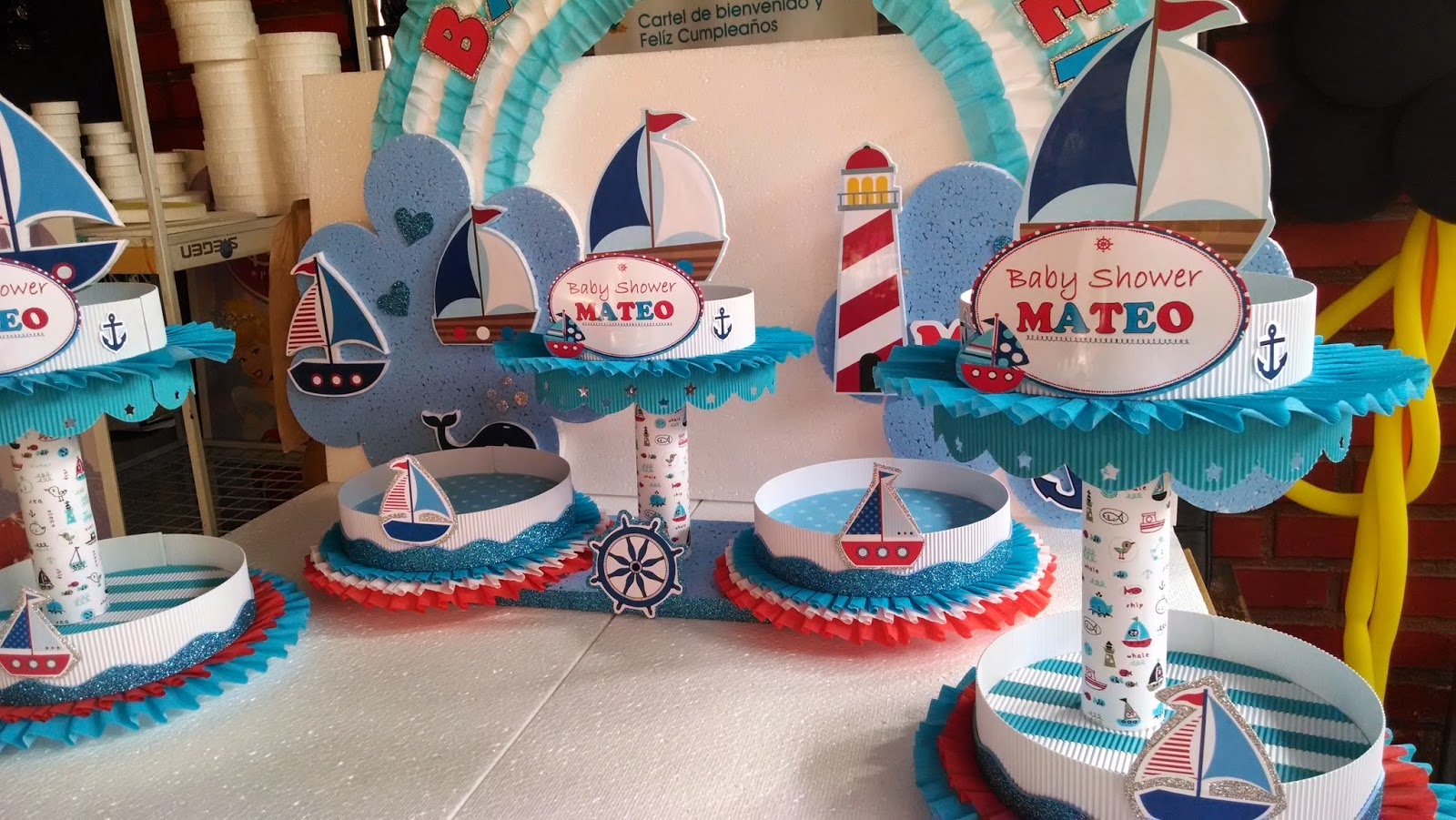decoraciones infantiles baby shower nautico On decoracion nautica infantil