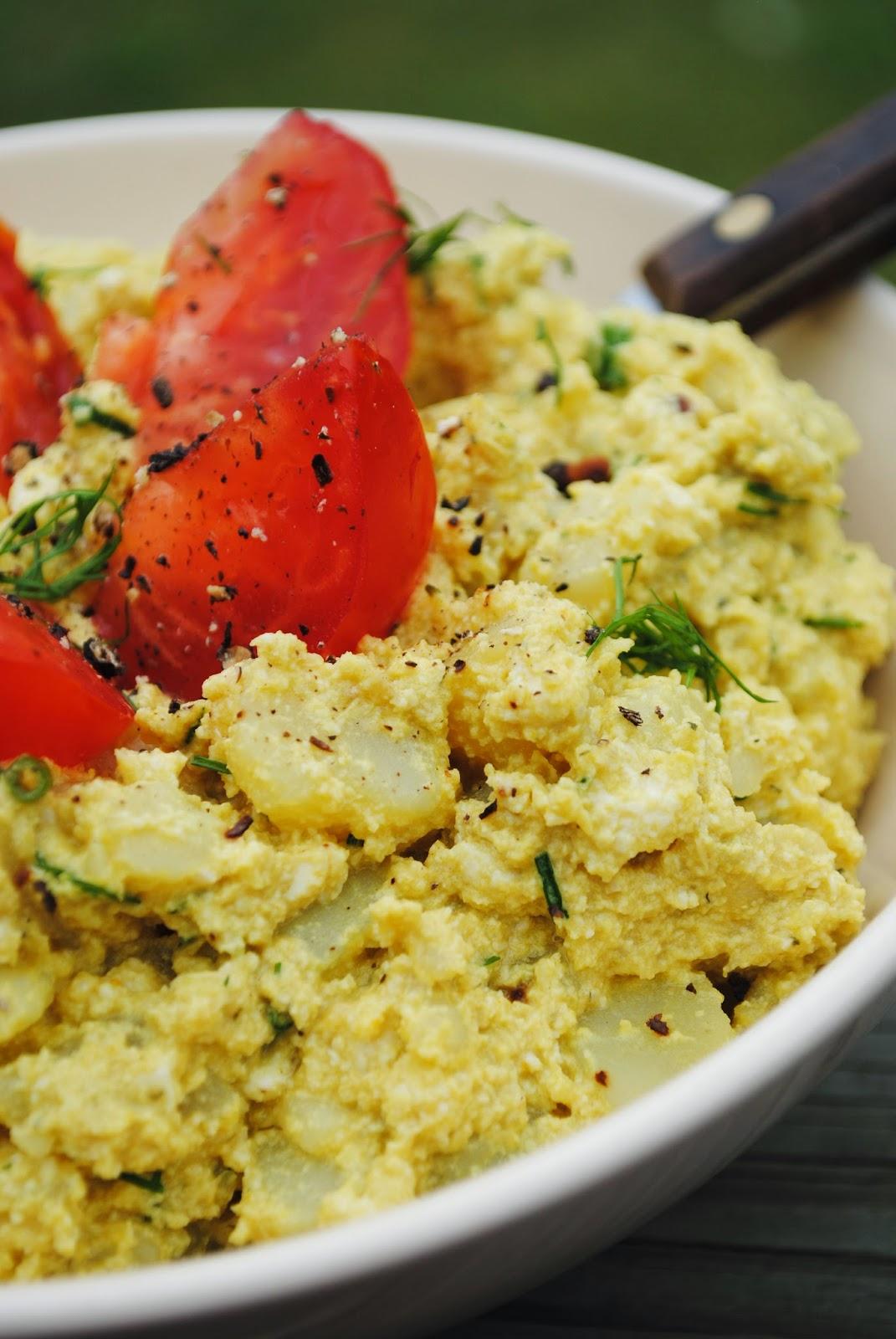 Creamy potato and tofu salad |VeganSandra - tasty, cheap and easy ...