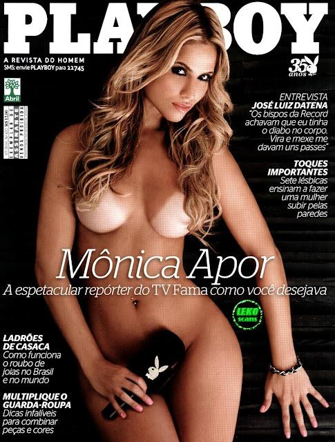 Confira as fotos da espetacular repórter do TV Fama, Mônica Apor, capa da Playboy de julho de 2010!
