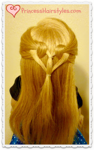 heart hairstyle tutorial, quick and easy