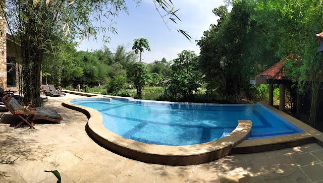 swimming pool King's Lodge Bandhavgarh tiger reserve pugdandee safari review