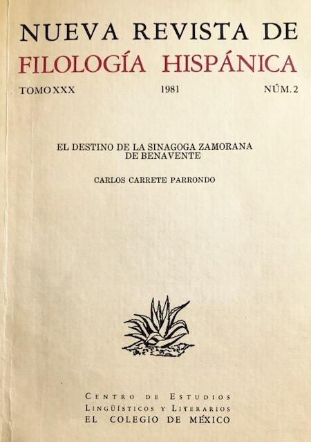 El destino de la sinagoga zamorana de Benavente (1981)