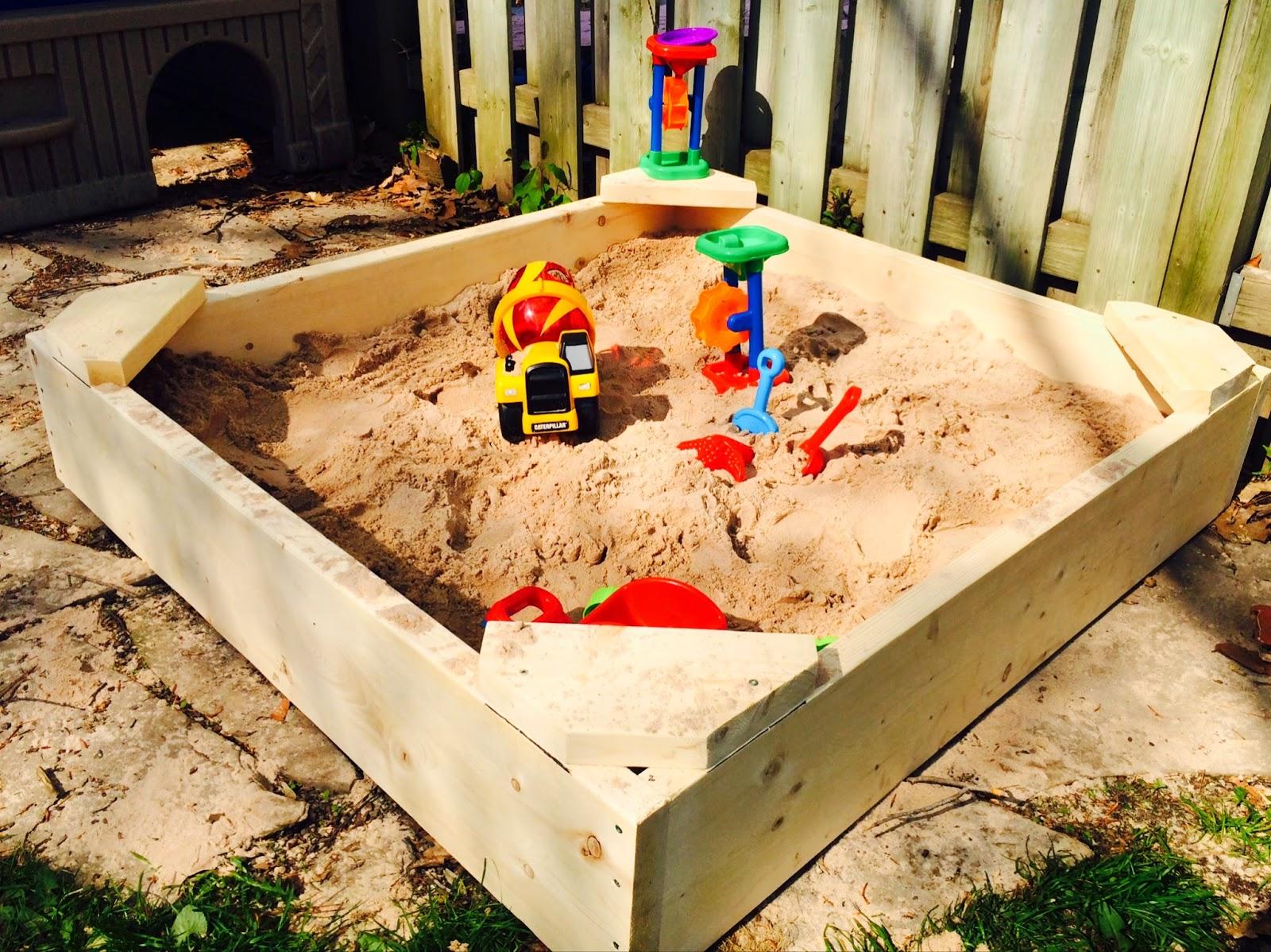 2moms2dogs2babies diy sandbox for Amenagement jardin diy