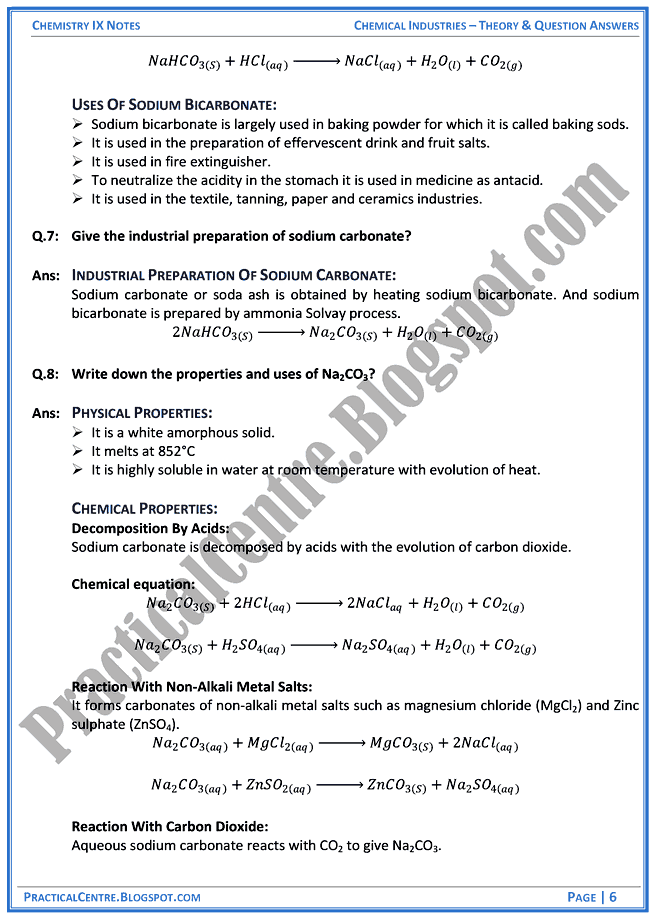 chemical-industries-theory-and-question-answers-chemistry-ix