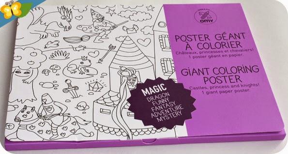 Poster géant à colorier Magic de chez omy
