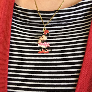 vintage handpainted Minnie Mouse pendant