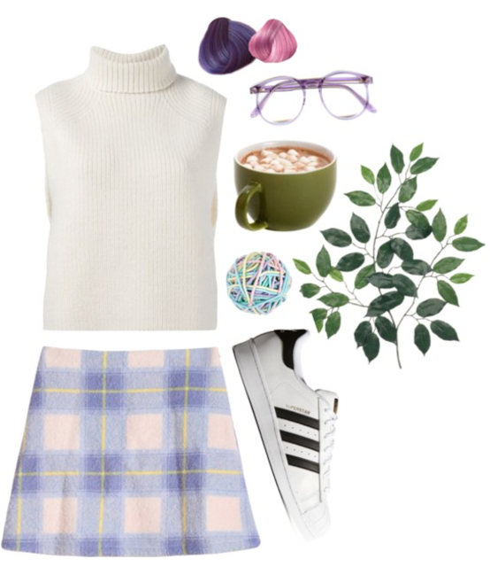 Geek, chic, and a little grungy? This is the perfect outfit to sport to the local coffee shop.