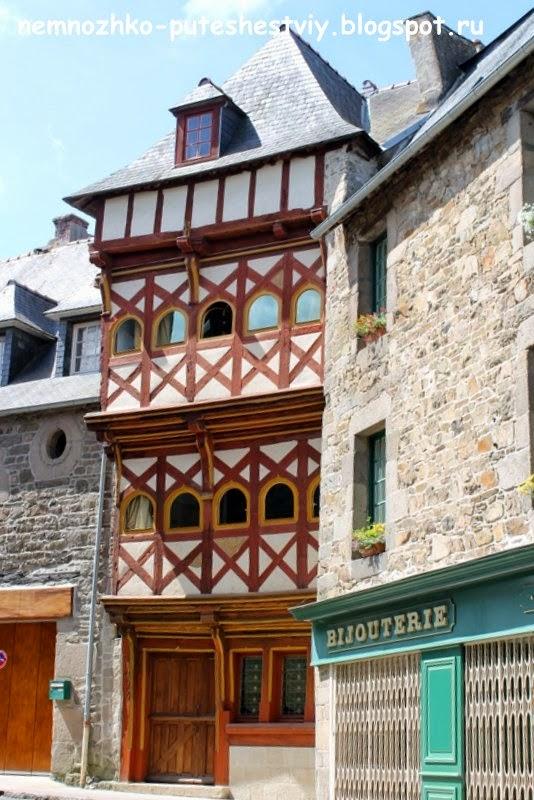 Бретань, Трегье, фахверковые дома