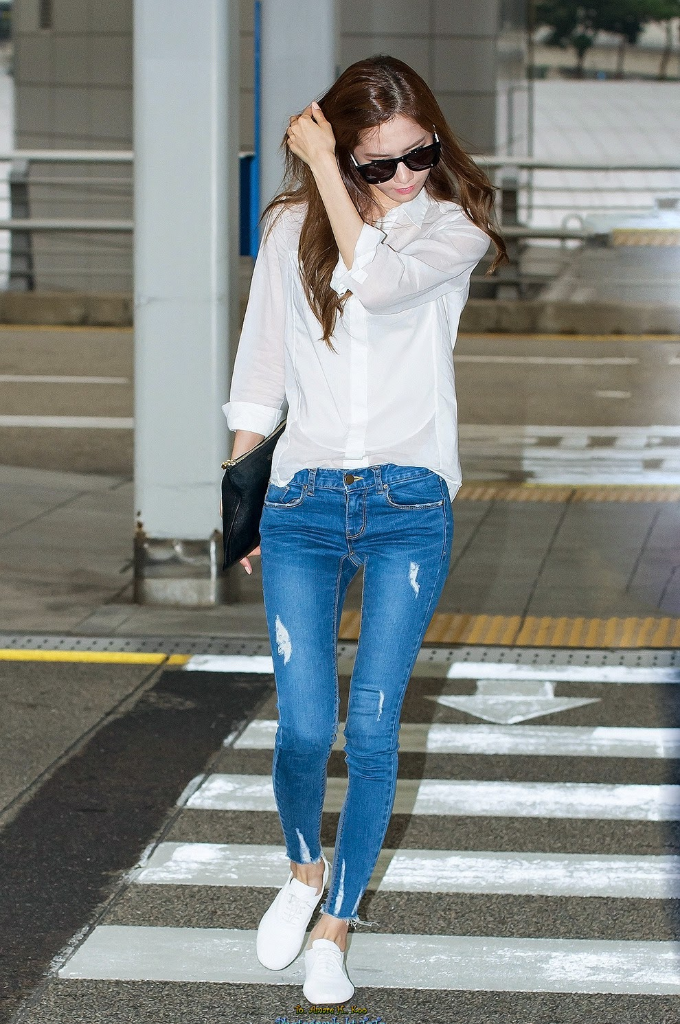 Koreansplash Intip Airport Fashion Ala Yoona Snsd