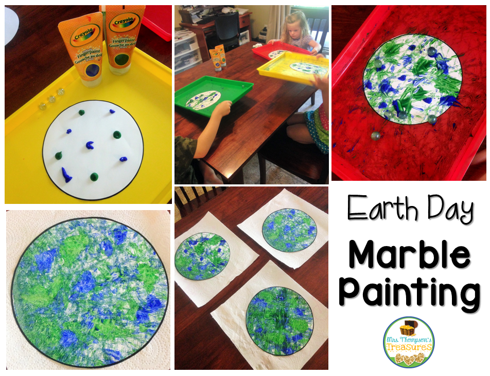 Marble Painting Earth