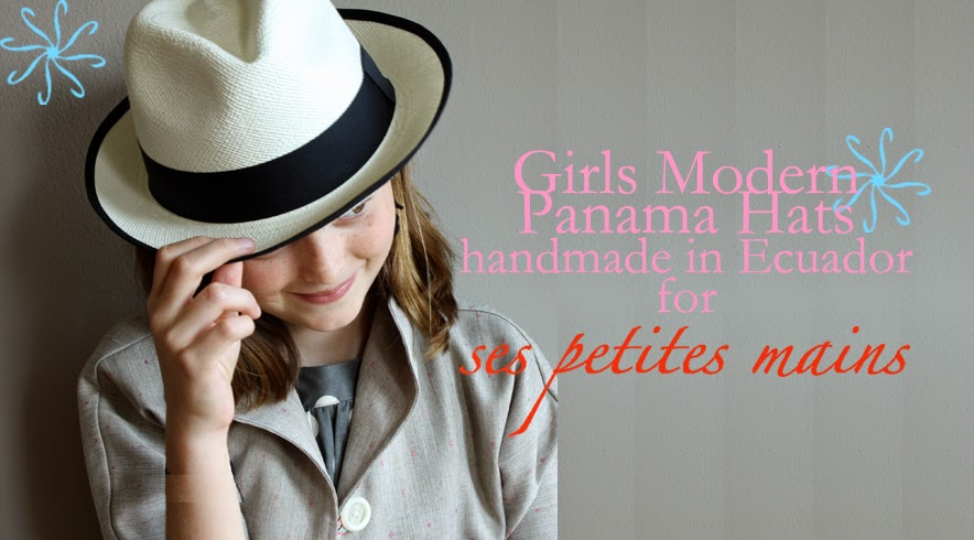 Panama hats for girls & tweens, handmade in Ecuador