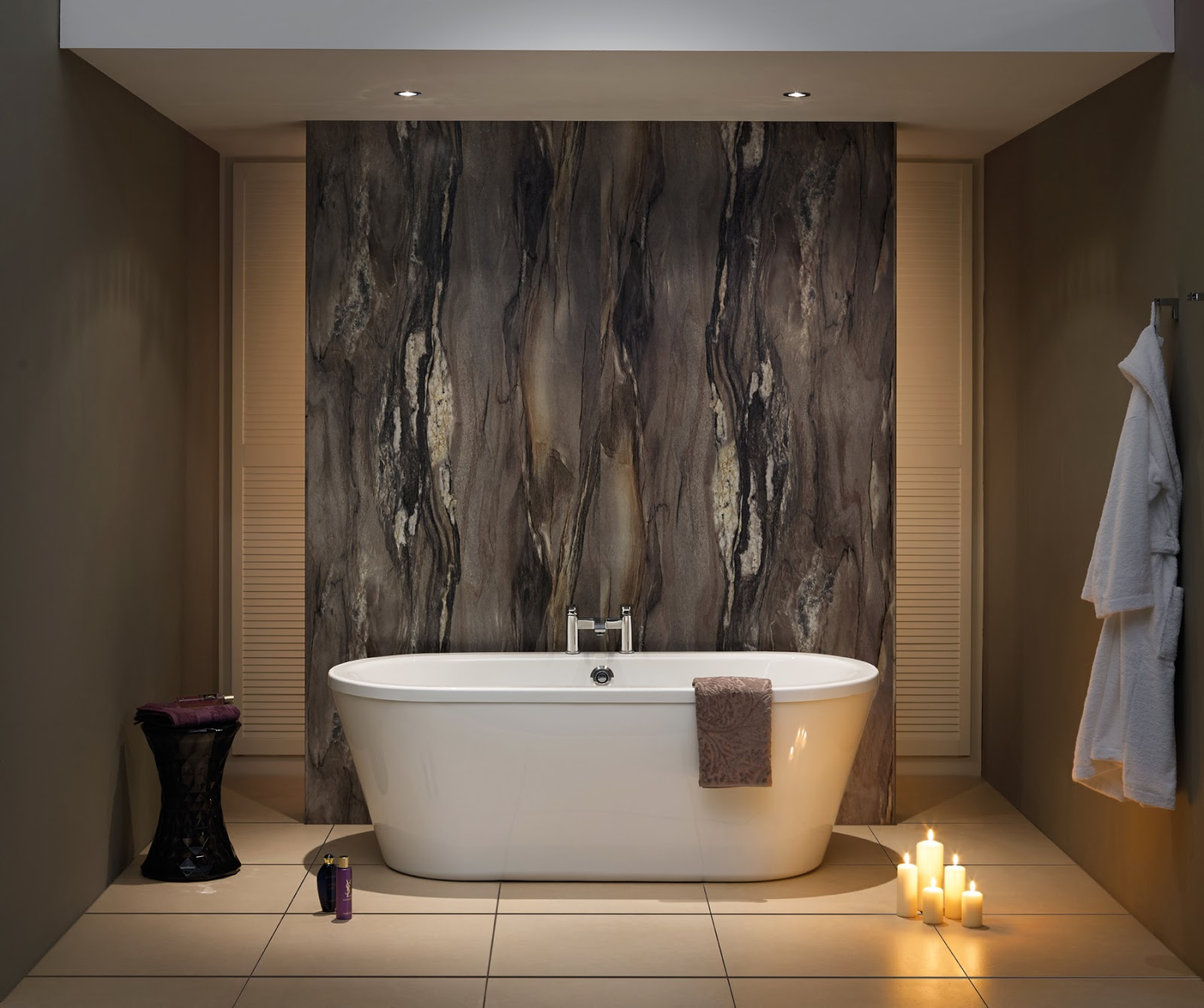 Bushboard relaunchs its nuance range of bathroom surfaces for Bathroom wall