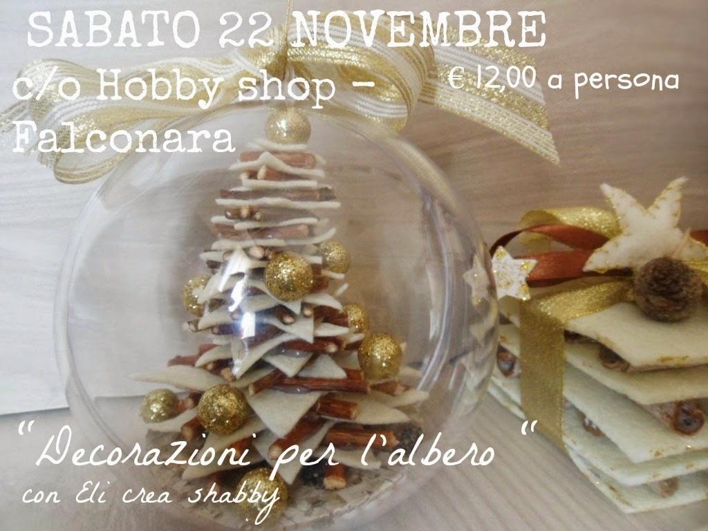 Sabato 22 Novembre (9,00-12,30) c/o Hobby Shop- Falconara (AN)