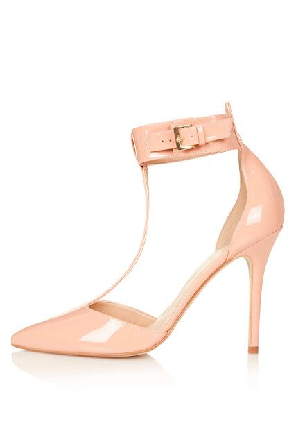 pale pink t-bar shoes