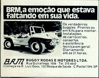 propaganda Buggy BRM - 1976.  reclame de carros anos 70. brazilian advertising cars in the 70. os anos 70. história da década de 70; Brazil in the 70s; propaganda carros anos 70; Oswaldo Hernandez;