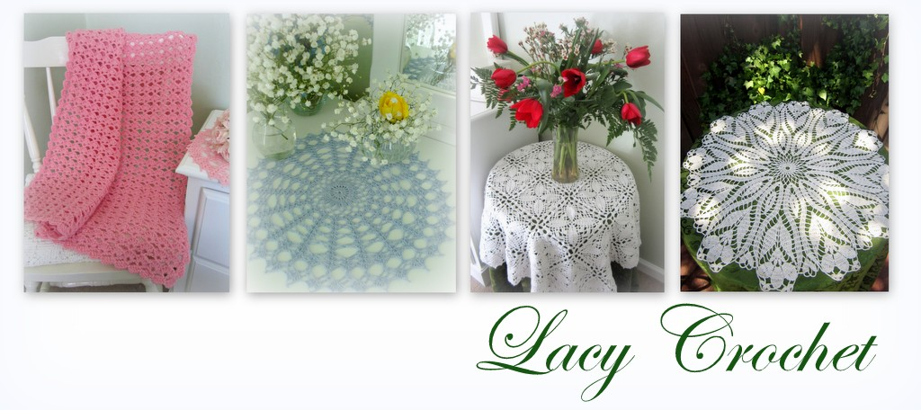 Crochet Patterns Lessons : Lacy Crochet: Lacy Baby Blanket, Free Pattern