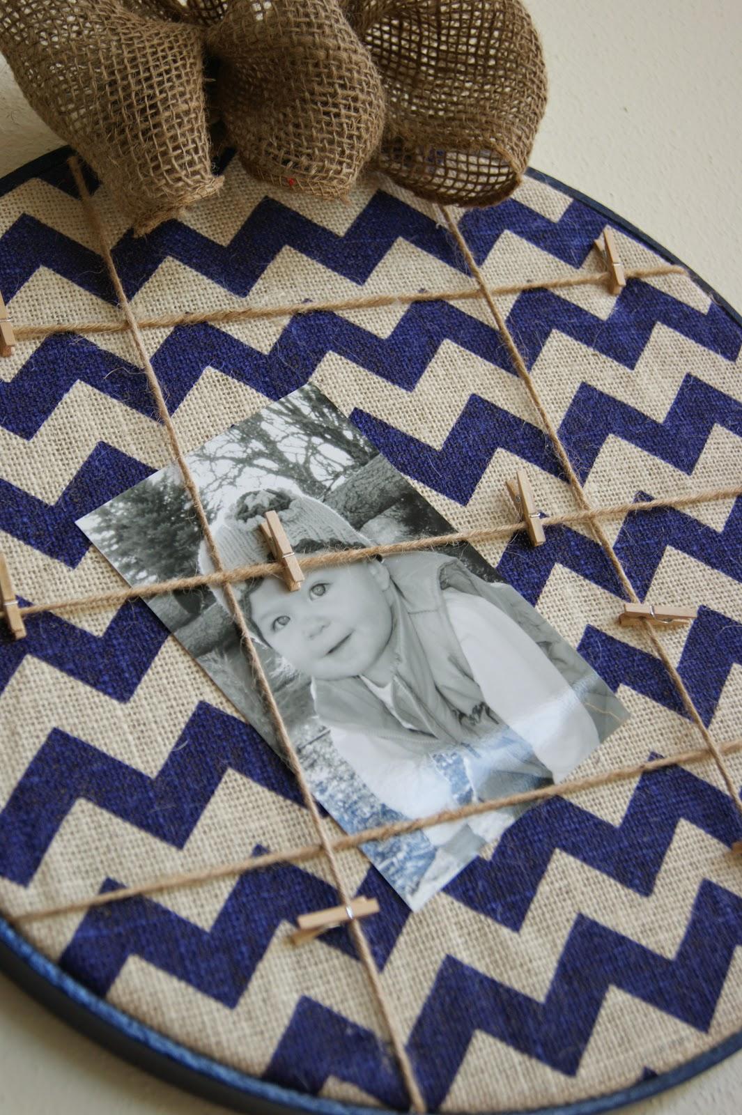 Embroidery Hoop Memo Board