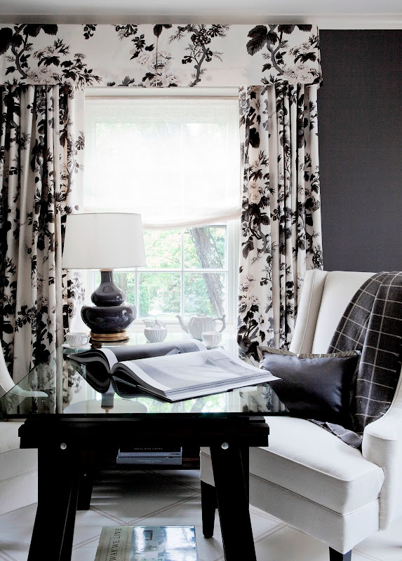 Black and White Design Curtains