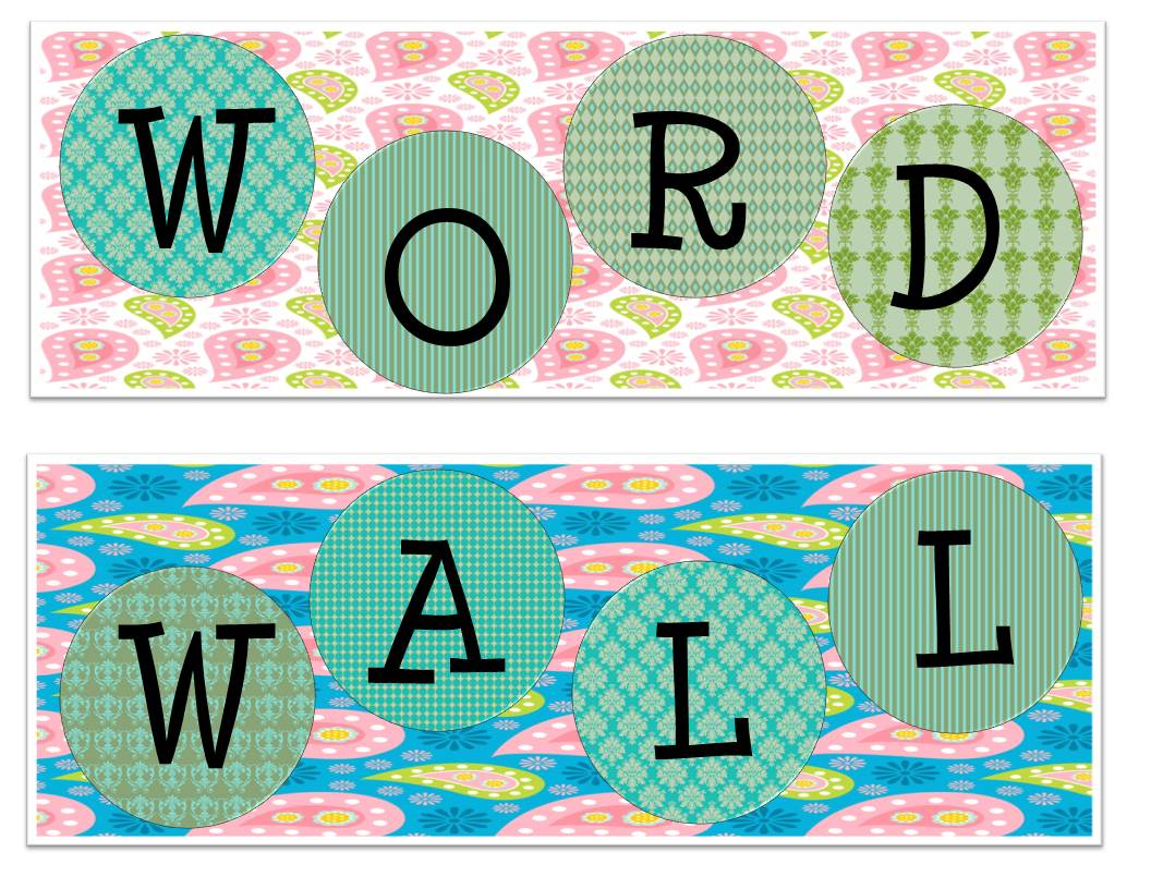Word Wall Letters The Idea Backpack Monday Made It  Part 3 Paisley Word Wall